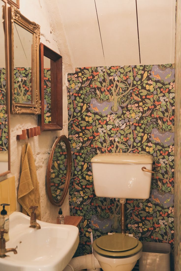 Awesome Bathroom Wallpaper Decorating Ideas Of 45 Pictures Of Bohemian Lifestyle   Watercloset
