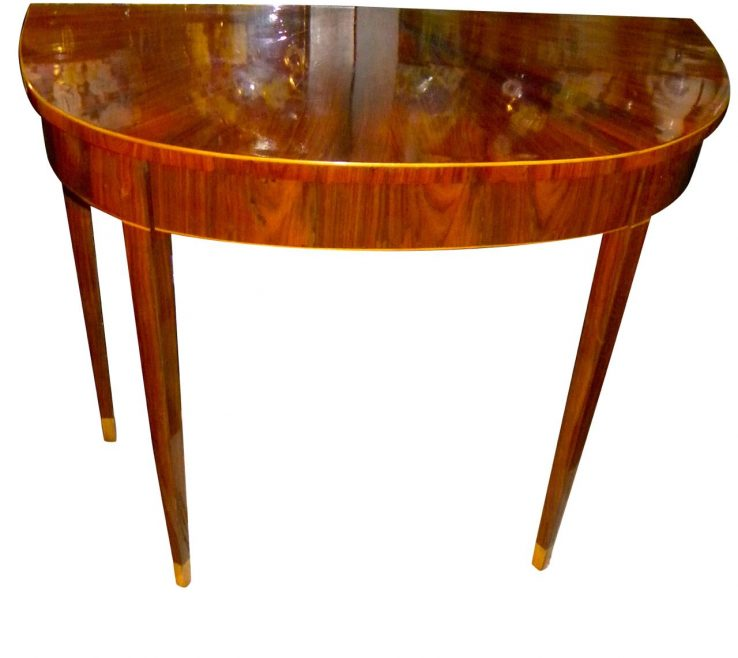 Awesome Entrance Hall Tables For Sale Of Art Deco Demilune Console Entry Table