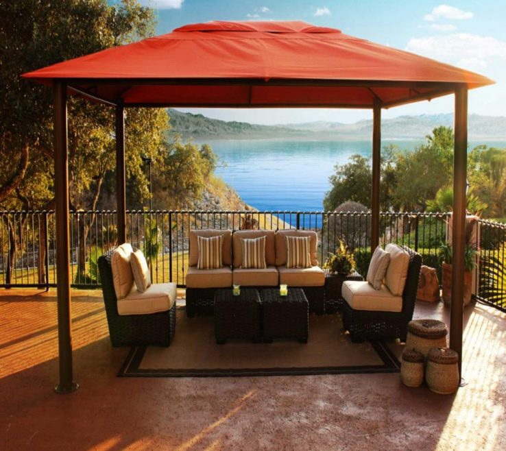 Awesome Furniture For Gazebo Of Patio Images