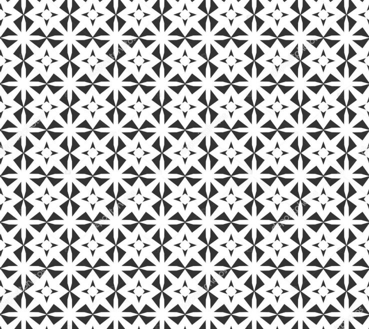 Awesome Geometric Decoration Of Abstract Seamless Pattern Repeating Black