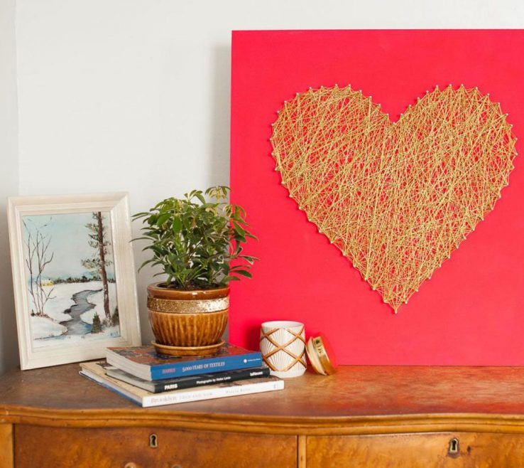 Awesome Heart Decorations Home Of Original Michelle Edgemont Diy Heart String Art Beauty1 S4x3