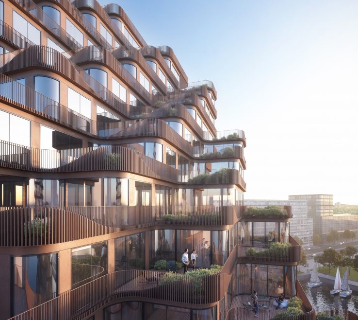 Balcony Designs Of Undulating Balconies To Wrap 3x Condos