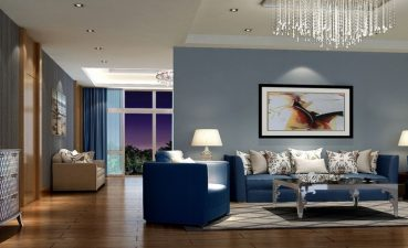 Beautiful Blue Living Room Of New Decor