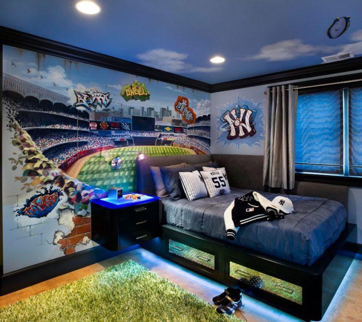 Beautiful Boys Room Sports Theme Of Really Fun Themed Bedroom Ideas Sebring