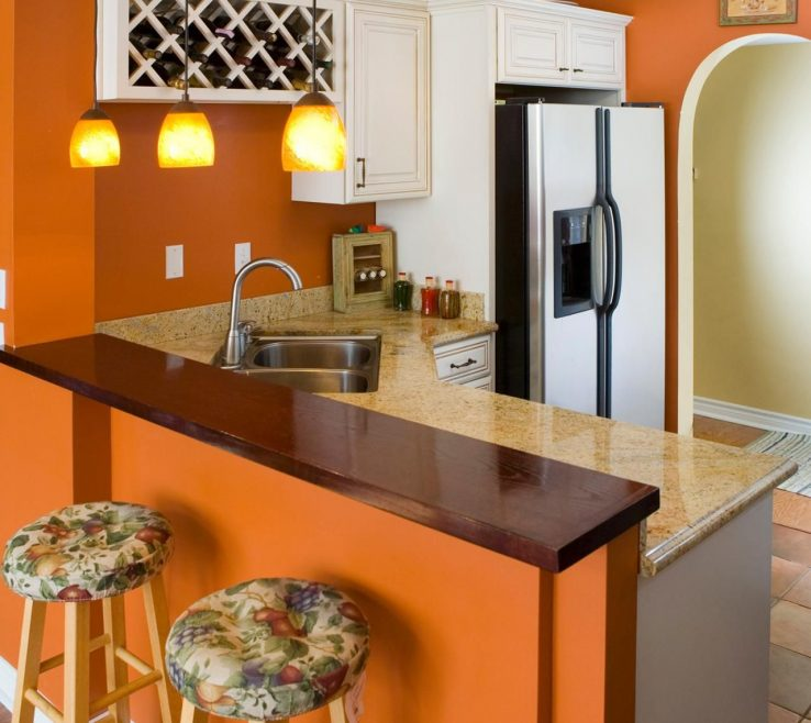 Beautiful Burnt Orange Kitchen Decor Of Decorating With Warm, Rich Colors | Color