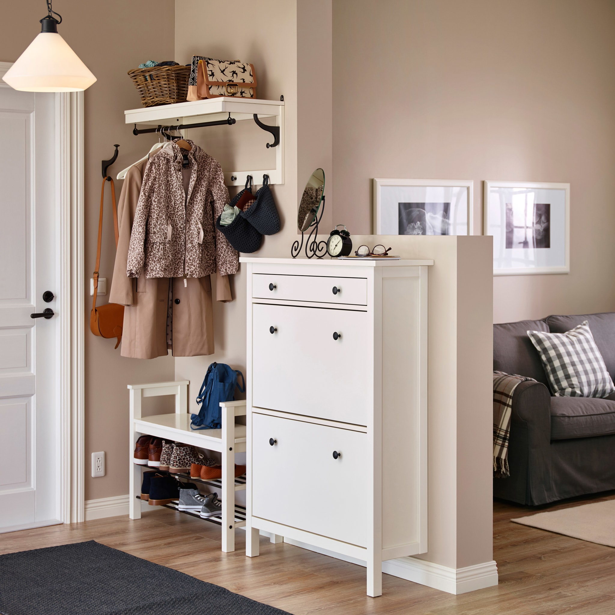 Beautiful Entrance Hall Tables For Sale Of A Small Hallway With A White Shoe