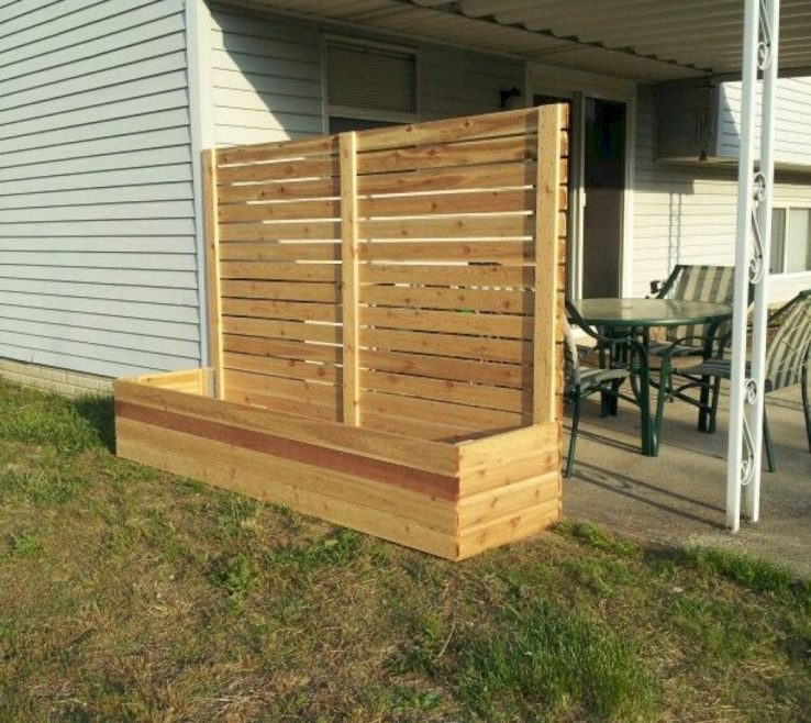Beautiful Ideas For Yard Privacy Of Front Fence Remodel On A Budget