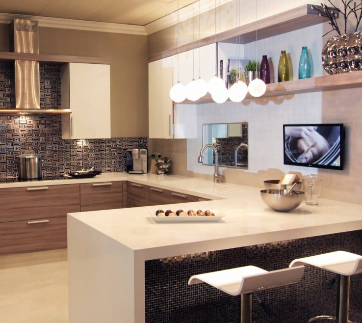 Beautiful Kitchen Peninsula With Seating Of Dura Supreme Design By Kitchens Of Diablo