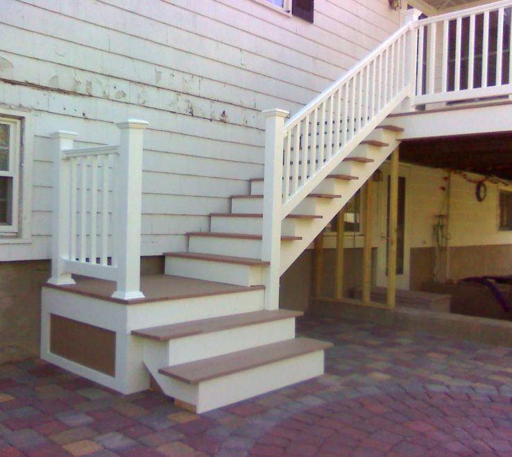 Beautiful Outdoor Stairs Ideas Of Deck Design Deck With Landing | Porch