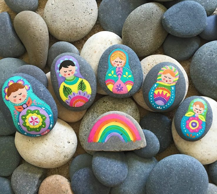 Beautiful Painted Rocks For Garden Of Best Supplies Rock Painting