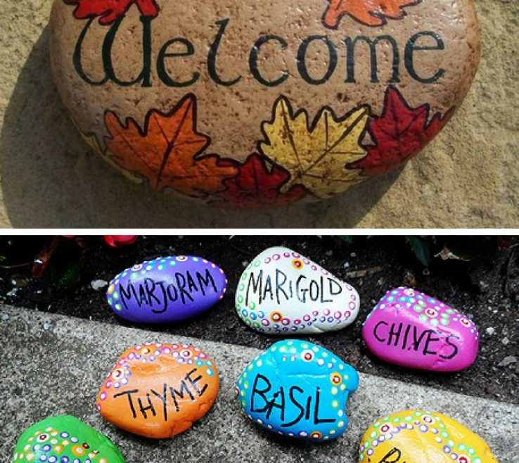 Beautiful Painted Rocks For Garden Of Rock Markers