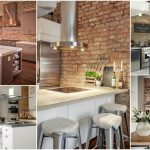 Beautiful Red Brick Kitchen Wall Tiles Of Kitchen Modern Exposed Interior Designs Excellent