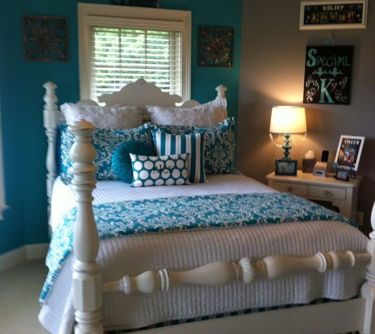 Beautiful Turquoise Color For Bedroom Of Room Ideas, Decorations, Decor, Paint, Bedroom, Stairs,