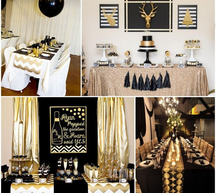 Black And White Decorating Ideas For A Party Of Gold Resume Table Decorations Deco Inspiration