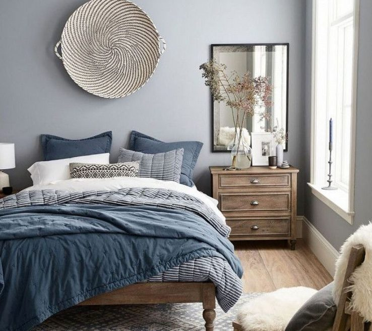 Blue Gray Decor Of Cool 51 Beautiful And Bedroom Design Ideas