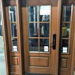 Brilliant Cherry Doors Of Fiberglass Door System Rustic Stain With Clear