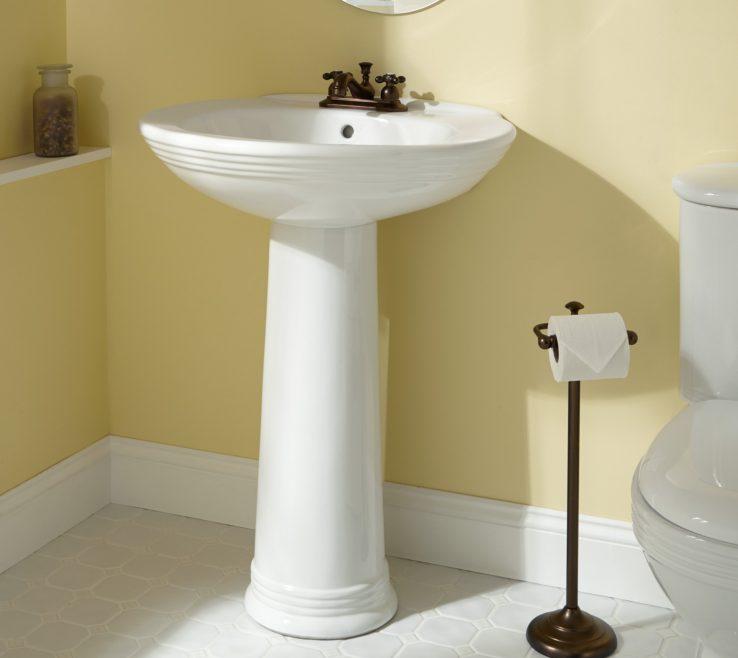 Brilliant Corner Pedestal Sinks For Small Bathrooms Of Sink Bathroom Design Home Decor