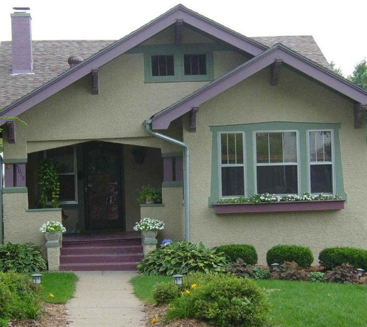 Brilliant Cottage Paint Color Schemes Of Gray Green Bungalow