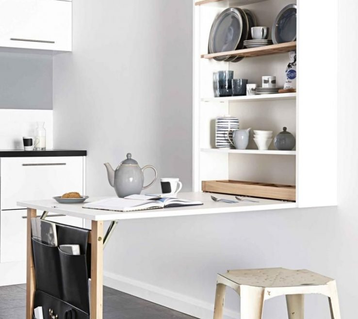 Brilliant Diy Small Kitchen Table Of Space Saving Table/storage Space Saving Dining Table,