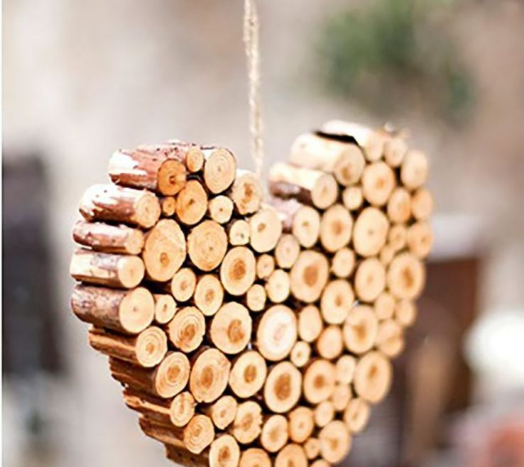Brilliant Heart Decorations Home Of Tree Ornament Of A Wooden More