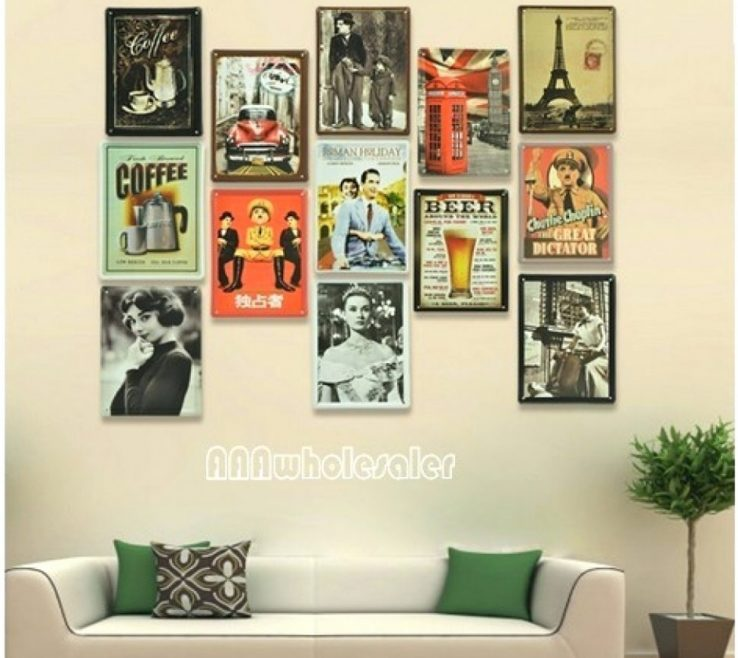 Brilliant Retro Decorating Ideas Of Wall Decor Kitchen Art Diner Bathroom