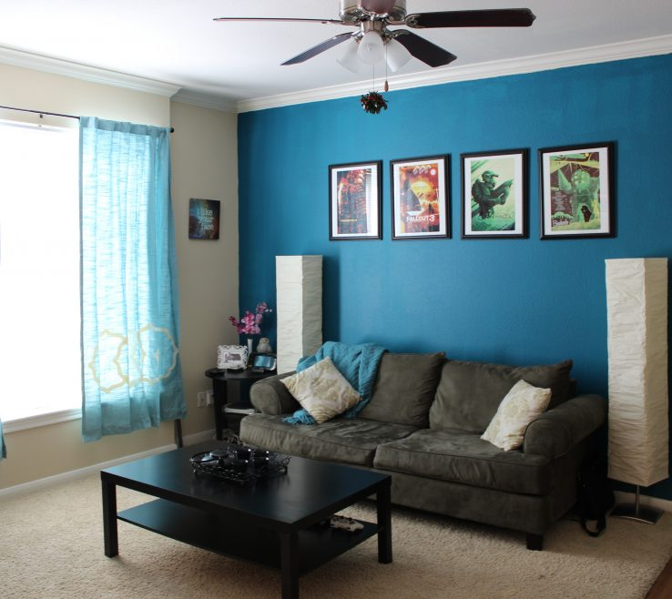 Brilliant Turquoise Living Room Ideas Of Interior Paint Drawing Wall Colour Accent Wall