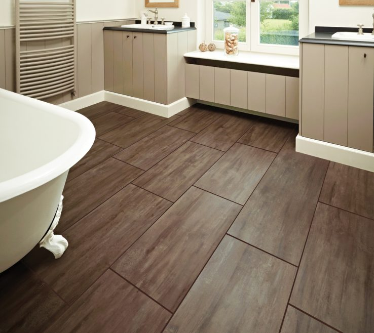 Brilliant Vinyl Flooring Modern Of Bathroom Contemporary Dark Brown Best Luxury