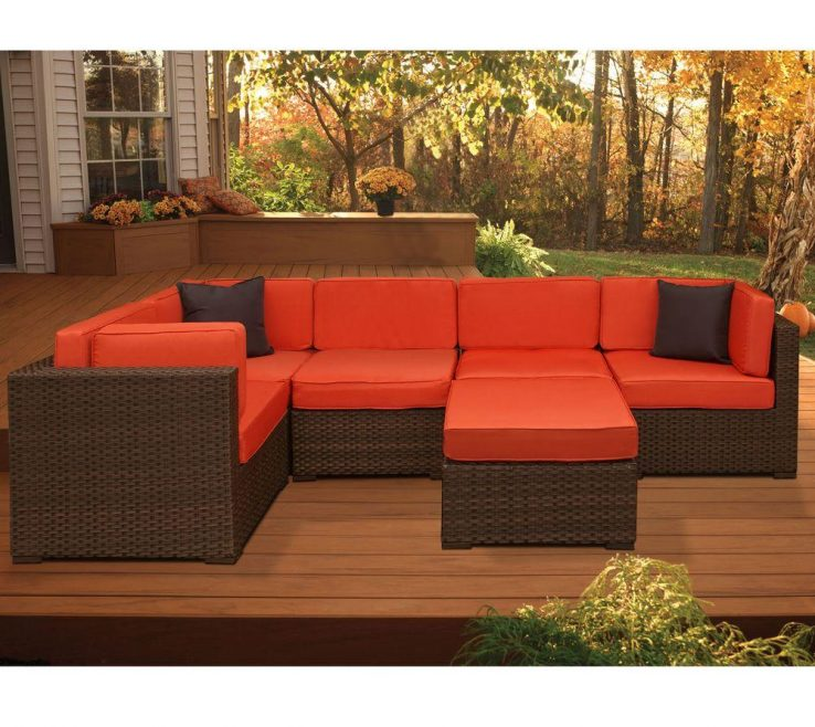 Brown And Orange Sofa Of Atlantic Contemporary Lifestyle Bellagio Piece All Weather Wicker