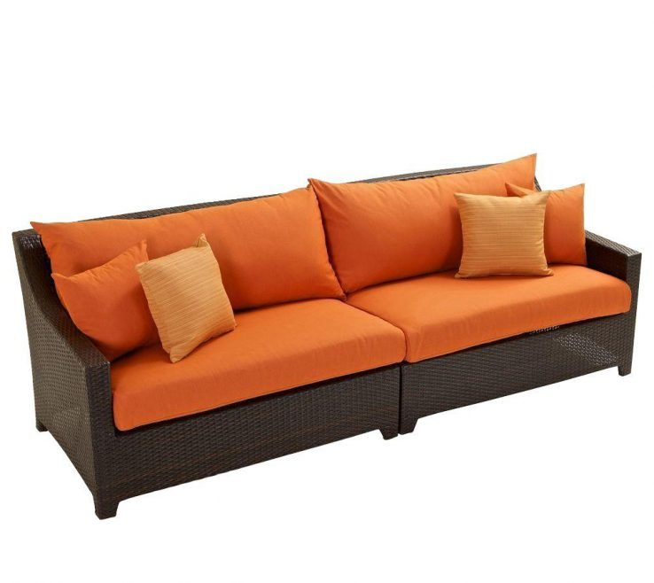 Brown And Orange Sofa Of Rst Brands Deco Patio With Tikka Cushions