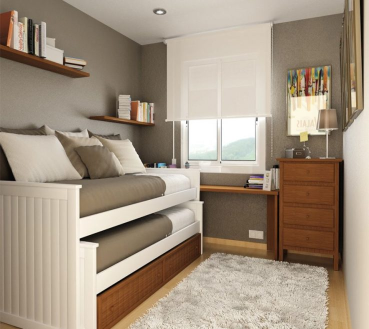 Captivating Beds For Small Spaces Of Bedroom Inspiration , Fitting 2 In Room