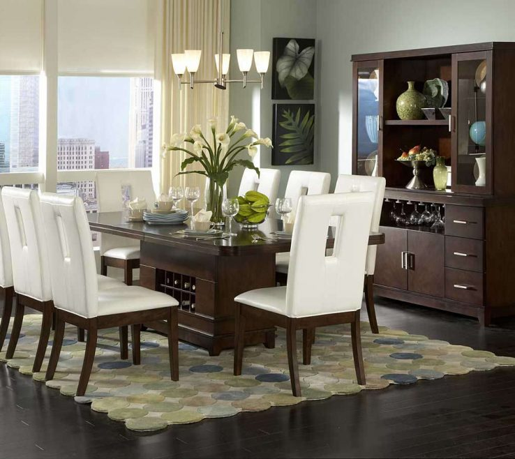 Captivating Dining Room Table Centerpieces Modern Of Roombeautiful Glass Ideas With Round Dark Brown