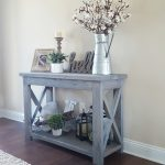 Captivating Entrance Hall Tables For Sale Of Modified Ana White Rusticconsole Table