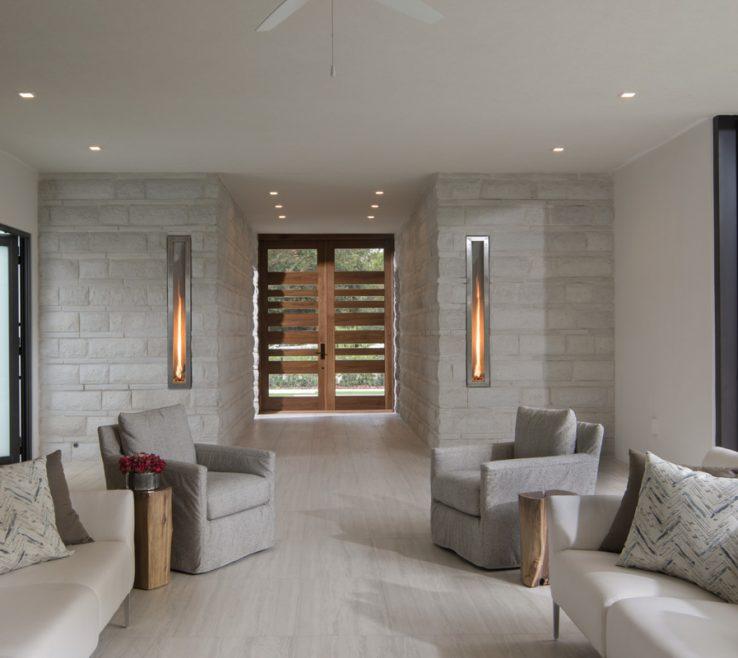 Captivating Modern Room Doors Of Entrance With Custom Walnut