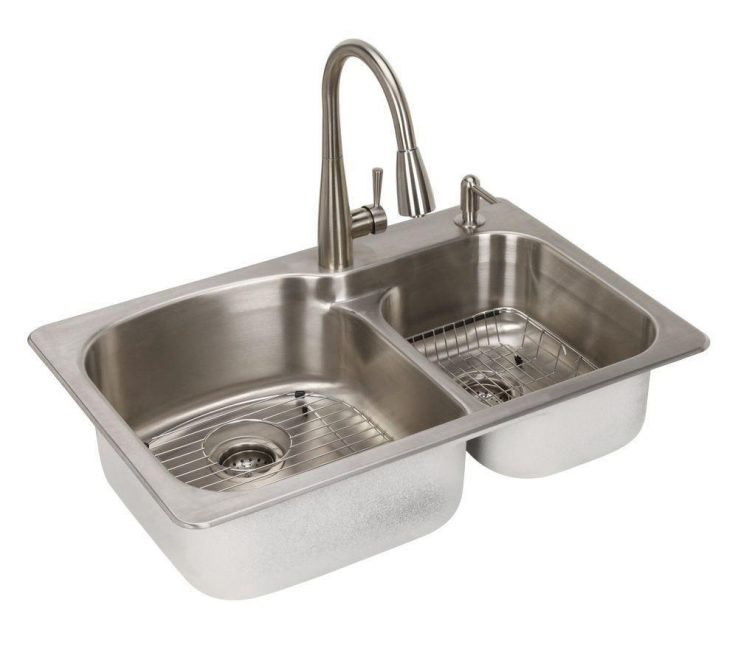 Captivating Odd Shaped Kitchen Sinks Of All In One Dual Mount Stainless Steel 33 In.