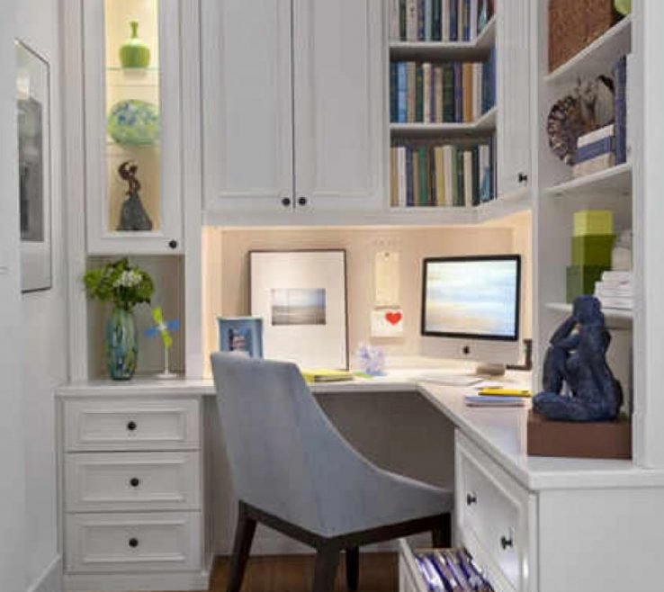 Captivating Small Space Lighting Of L Shape In White Tone Has