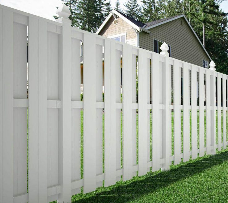 Captivating Wood Fence Designs Of White Shadow Box