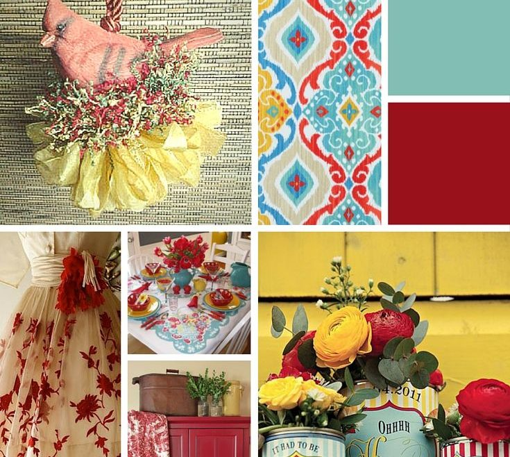 Charming Decorating With Yellow And Red Of A February Mood Board Red Turquoise