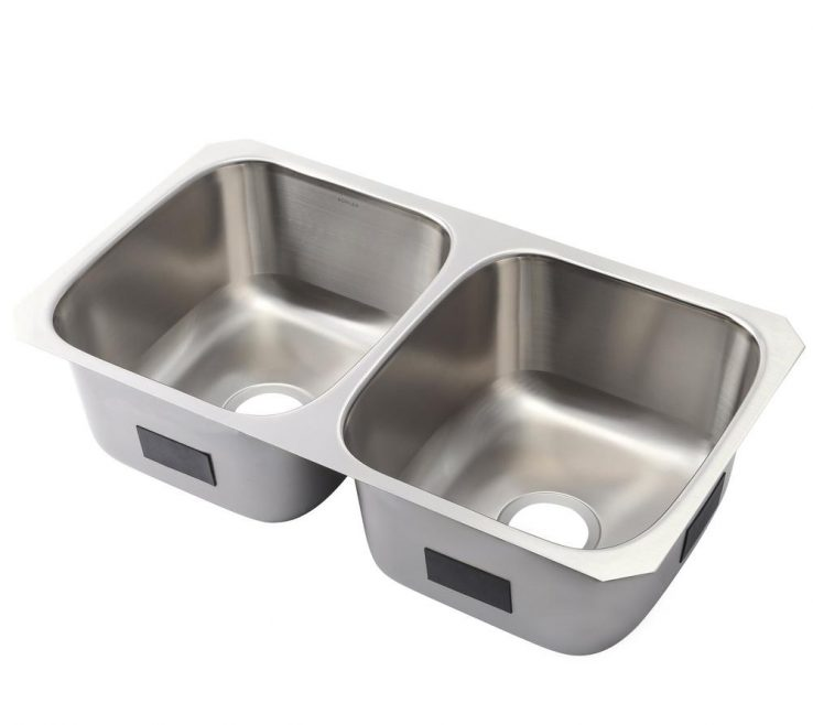 Charming Odd Shaped Kitchen Sinks Of Ballad Undermount Stainless Steel 32 In. 50/50