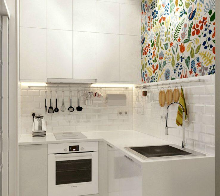 Charming Small White Kitchens Of Kitchen