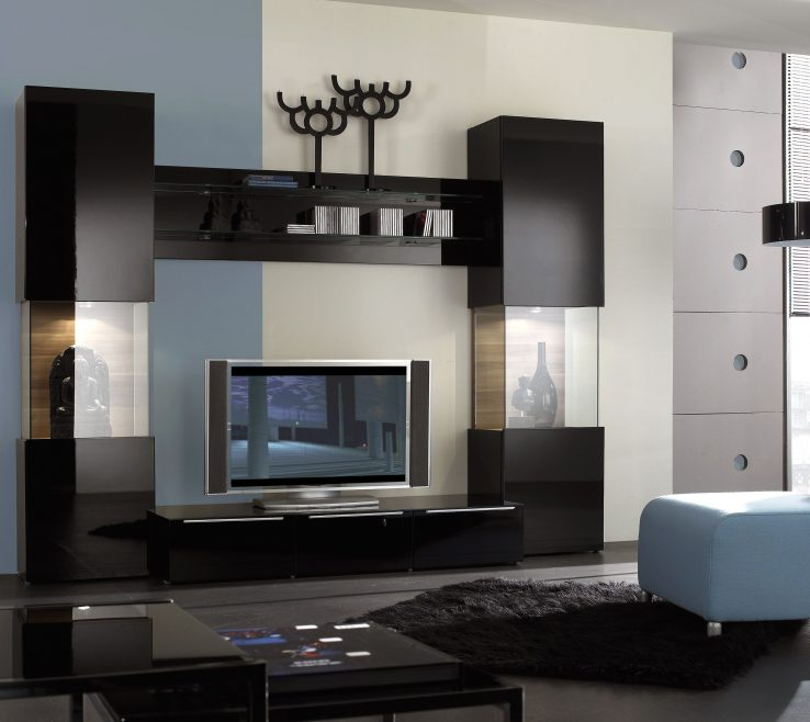 Charming Wall Units Designs For Living Room Of Contemporary Tv