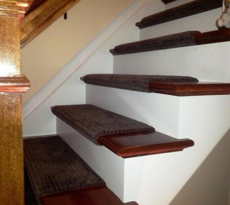 Cheap Stair Tread Ideas Of Run Bullnose Carpet Treads