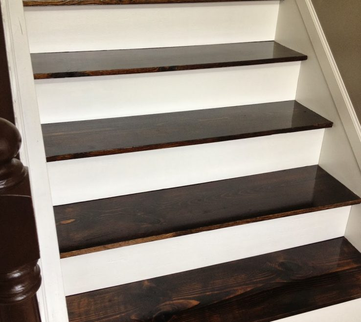 Cheap Stair Tread Ideas Of Turn Carpeted Stairs Into Hardwood Beauties