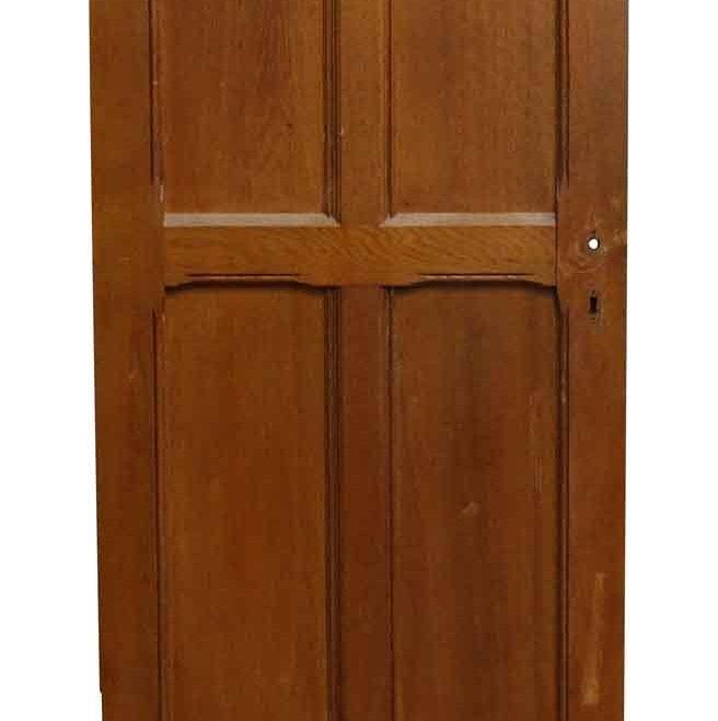 Cherry Doors Of Four Panel Salvaged Door