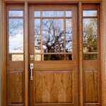 Cherry Doors Of Wood Entry Door Clear Glass Natural