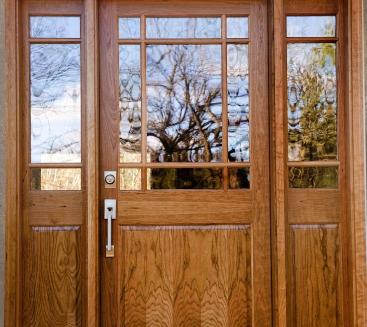 Cherry Doors Of Wood Entry Door Clear Glass. Natural