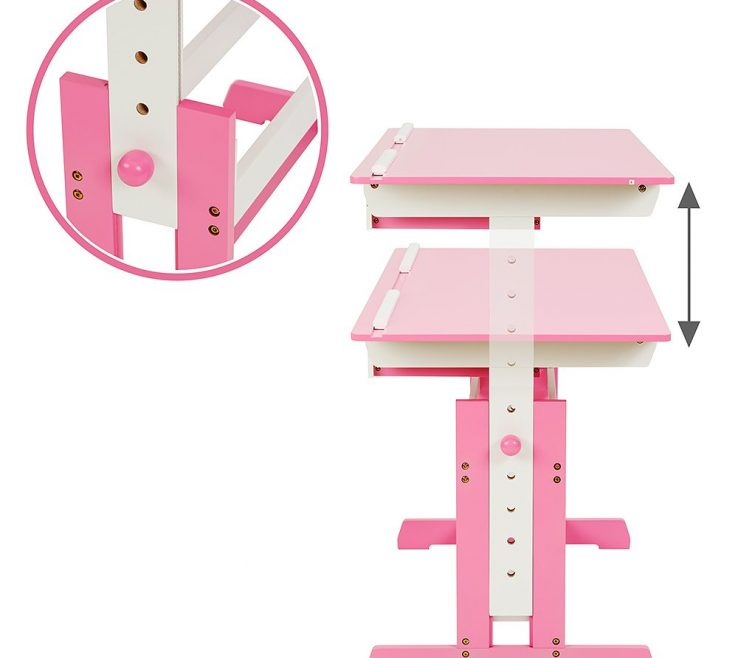 Child Desk Height Of Tectake Kids | Table Different Colours