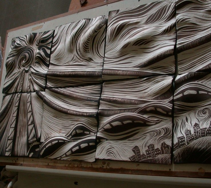 Cool Decorative Ceramic Wall Tile Of Carved | Tile, Tile, Art, Natalie Blake