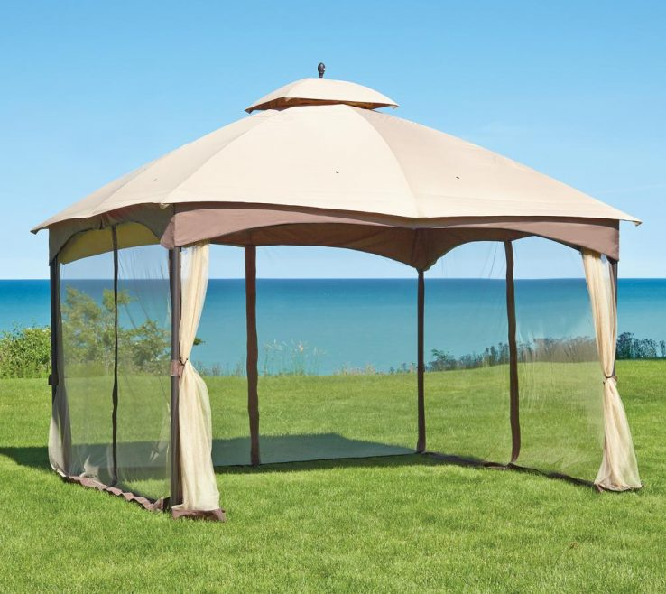 Cool Furniture For Gazebo Of Double Roof