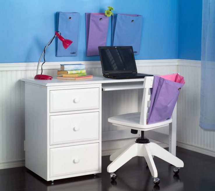 Cool Kids Study Table With Storage Of Furniture: Solid Wood Desk And Chair Set