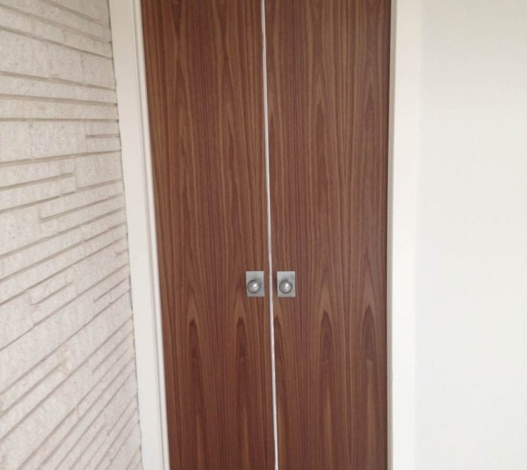 Cool Modern Closet Doors Of Midcentury Walnut Door